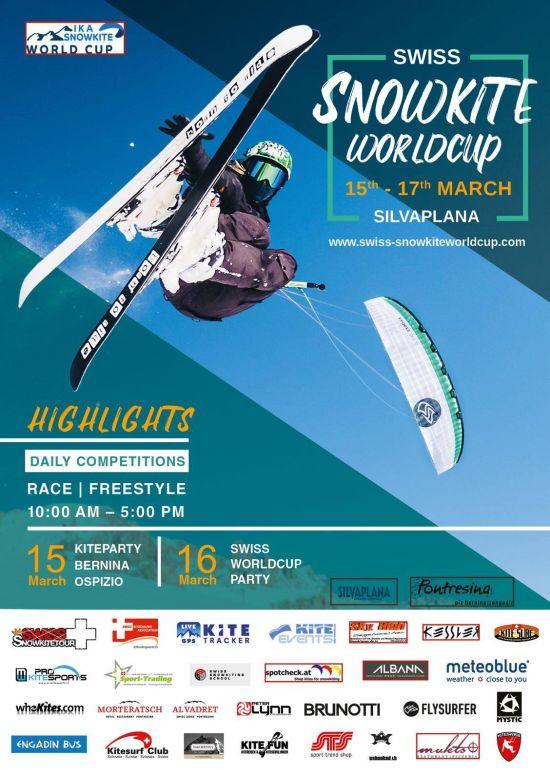 Swiss Snowkite Worldcup :: 15-16 mars 2019 :: Agenda :: LetsKite.ch